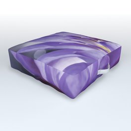 Purple Water Lily Outdoor Floor Cushion