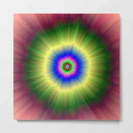 Rainbow Super Nova Metal Print