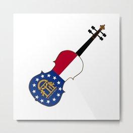 Georgia State Fiddle Metal Print