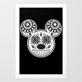 This Ain't Disney Sugar Skull Art Print
