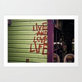 Live & Love Life Art Print