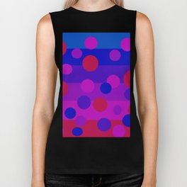 Sweet Berry Pie with Floating Circles Biker Tank