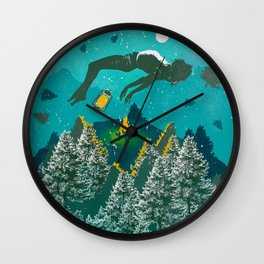 FLOATING FOREST BLUE Wall Clock