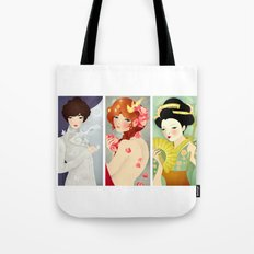 Triptych Tote Bag