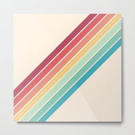 Classic 70s Style Retro Stripes - Penida Metal Print