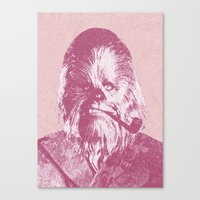 chewbacca Canvas Prints featuring Chewbacca by NJ-Illustrations
