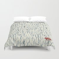 winter Duvet Covers featuring Winter Wood by littleclyde