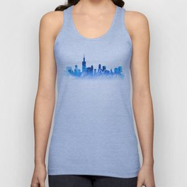 Chicago in Blue Unisex Tank Top