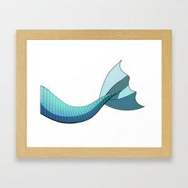 Turquoise Mermaid Tail V2 Framed Art Print