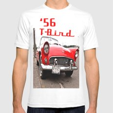 Little Red T-Bird White MEDIUM Mens Fitted Tee