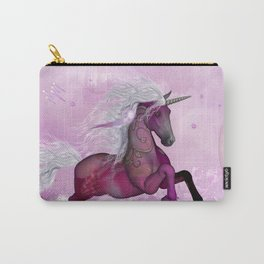 Wonderful unicorn in violet colors Carry-All Pouch