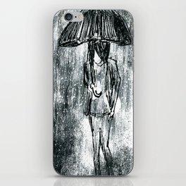 Umbrella Sketch iPhone Skin