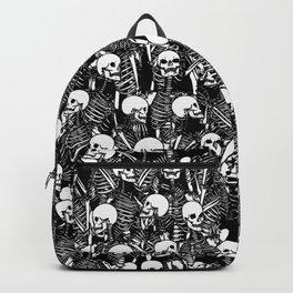 Restless Audience Gothic Skeleton Halloween Horror Pattern Backpack