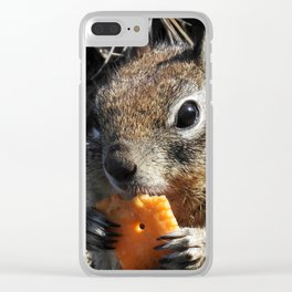 Mm Cheezy Clear iPhone Case