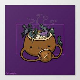 Food Series - Chowder Bread Bowl Canvas Print