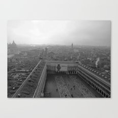 Saint Mark's Square in black and white Canvas Print