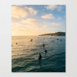 Sunset Surf Crew Canvas Print