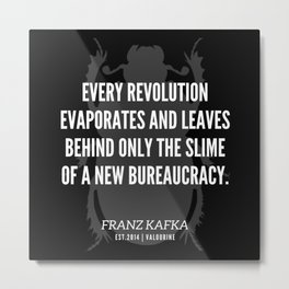 75 |  Franz Kafka Quotes | 190517 Metal Print