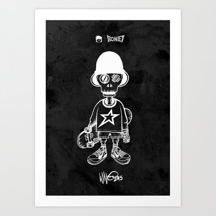 BONEY Skateboarding series - 01 Art Print