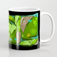 oasis Mugs featuring OASIS by clogtwo