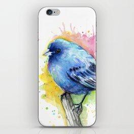 Blue Bird Indigo Bunting Colorful Animals iPhone Skin