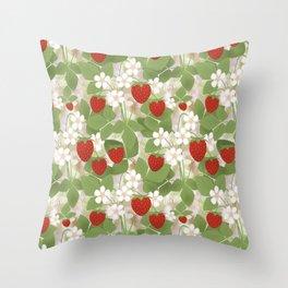 Strawberry. Throw Pillow