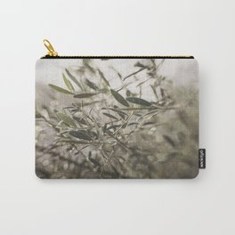 Olive Tree Leaves in the Mist Carry-All Pouch