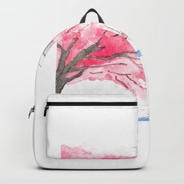 Tokyo Cherry Blossoms Watercolor Sketch - Ueno Park Backpack