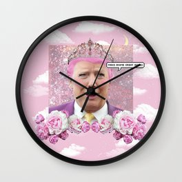 Make Anime Great Again - Kawaii Trump Wall Clock