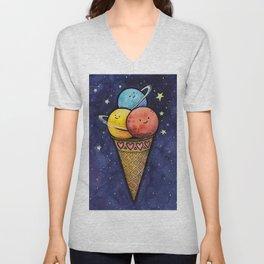 Space Ice Cream Cone Unisex V-Neck
