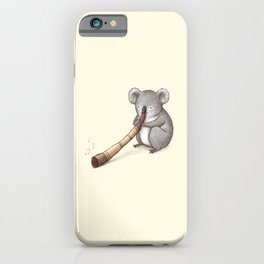 Koala Playing the Didgeridoo iPhone Case