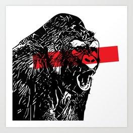 Love gorilla Art Print