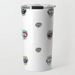 Pattern eye ball Travel Mug