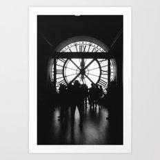 PARIS IV - CLOCK Art Print
