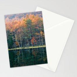 Mishakaike Pond - Autumn in Nagano Japan Stationery Cards
