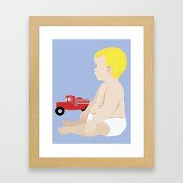 BOY BABY BLUE Framed Art Print