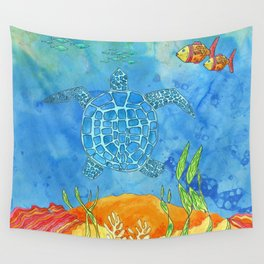 Secret Turtle Wall Tapestry
