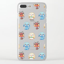 Rowlet, Litten and Popplio - Starters - Pocket Monsters Clear iPhone Case