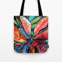 Colorful Tropical Leaves 2 Tote Bag