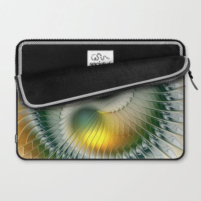 Like Yin and Yang, Abstract Fractal Art Laptop Sleeve