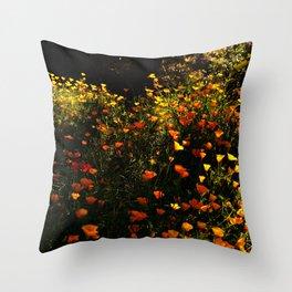 Beautiful garden flowers Throw Pillow