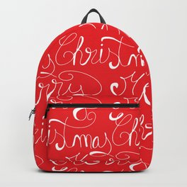 Merry Christmas Type Pattern Backpack