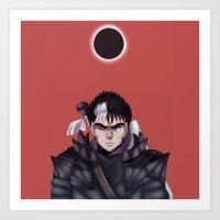 berserk Art Prints featuring Guts Berserk by Kurodoj