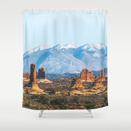 Landforms Shower Curtain