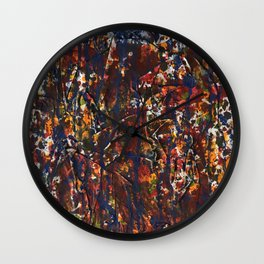 Abstract autumn colors Wall Clock