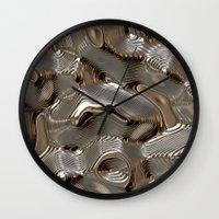 metallic Wall Clocks featuring Metallic by LoRo  Art & Pictures