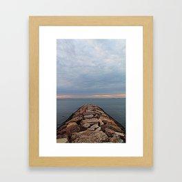 Rock Jetty  Framed Art Print