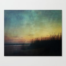 Floating in a Turquoise Sea Canvas Print