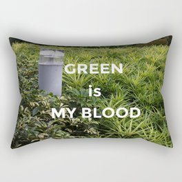 Green is my Blood Rectangular Pillow