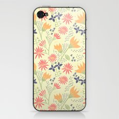 Autumn Floral Pattern iPhone & iPod Skin